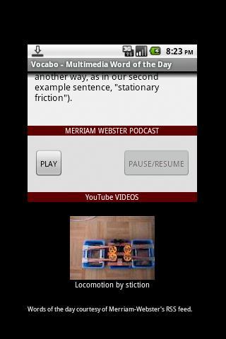 Vocabo- screenshot