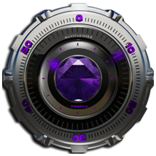 Clock Widget Purple Diamond