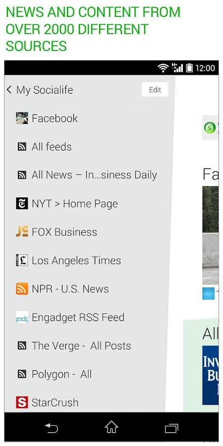 Socialife News: My RSS News - screenshot