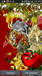 NewYearNight HDLive Wallpaper screenshot