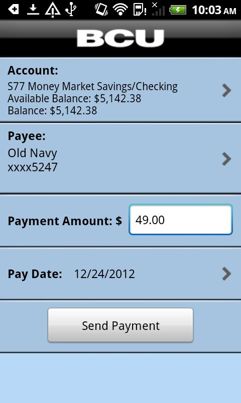 BCU Mobile Banking - screenshot