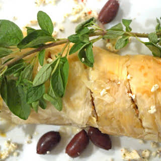 Greek Chicken and Rice in Fillo Dough.