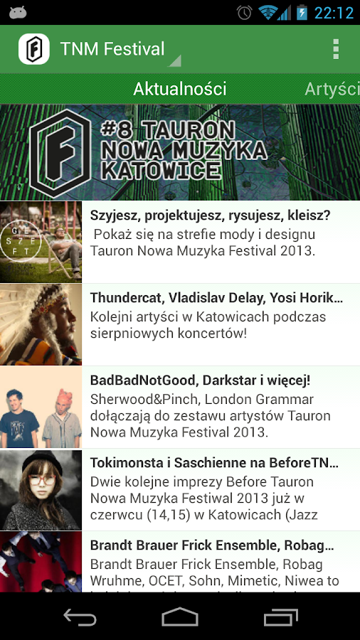 TNM Festival 2013 - screenshot