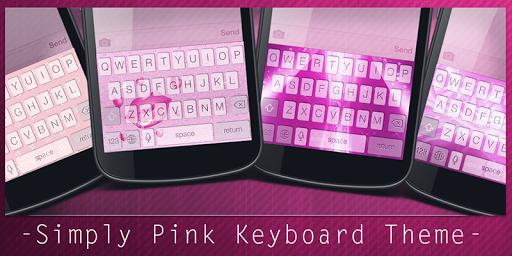 Simply Pink Keyboard Theme