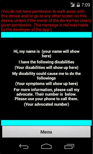 Disability Card