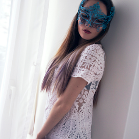 Masquerade by Emily Lei - Novices Only Portraits & People ( home, model, russian, masquerade, hkg, mask, indoors, photography, mix, portrait, korean )