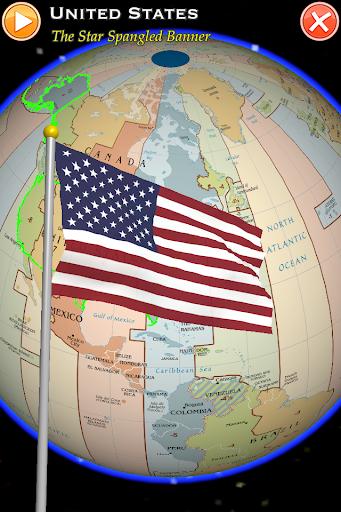 地球儀 国旗と国歌 Pro ISO 3166-1