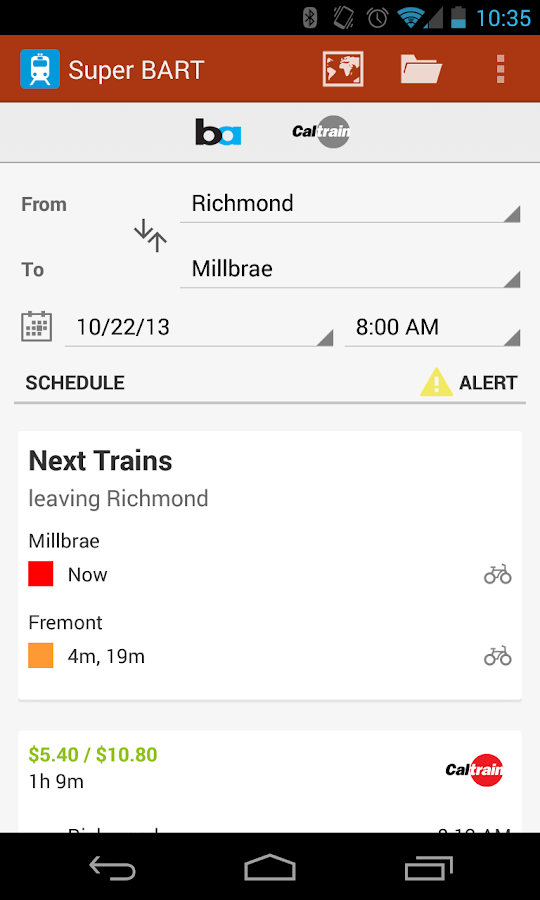 Super BART (and Caltrain) - screenshot
