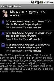 TWiz:WDW Transportation Wizard