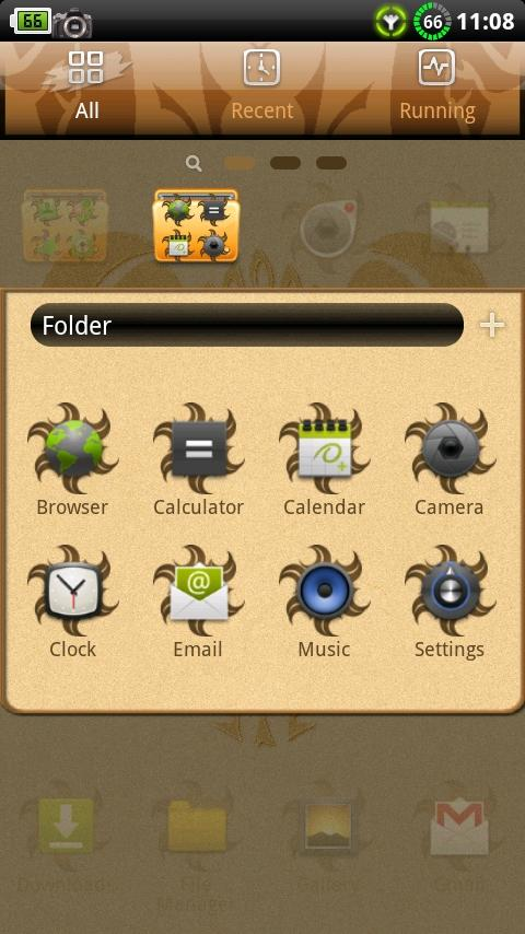 Aries GO Launcher Theme - screenshot