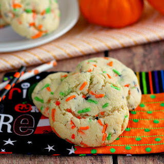 Halloween Funfetti Cake Mix Cookies
