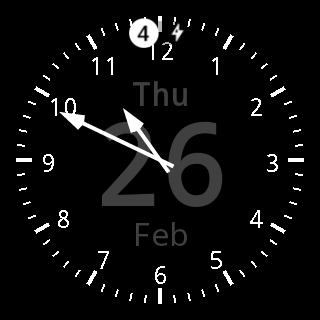 Analog Date Watch Face