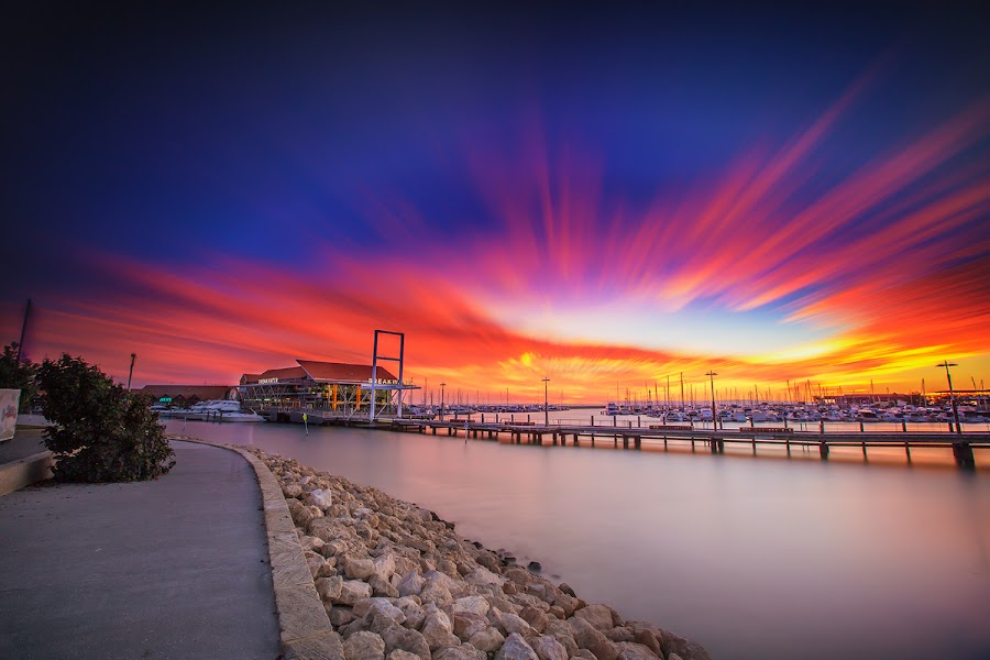 Hillarys Boat Harbor Sunset by Michael PhotoTraeger - Landscapes Sunsets & Sunrises ( leefilters, amazing, perth, traeger, hillarys, omg, beauty, landscapes, bigstopper, yew,  )