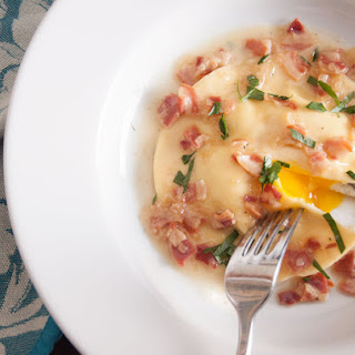 Uovo in Raviolo (Runny Egg Yolk Ravioli)