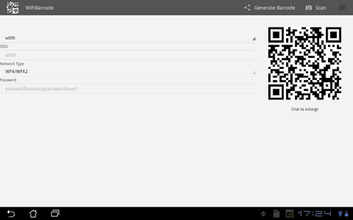 WiFi Barcode - screenshot thumbnail