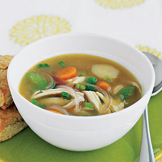 Ginger Chicken Soup with Vegetables.