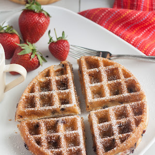 Blueberry Yeasted Waffles