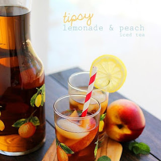Tipsy Lemonade and Peach Iced Tea