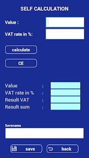 VAT Calculator Europe FREE - screenshot thumbnail