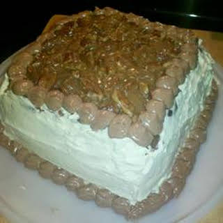 Pralines, Coffee and Cream Cake.