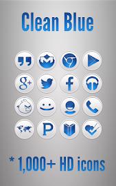 Clean Blue - Icon Pack Screenshot 10