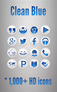 Clean Blue Icon Pack Screenshot 10