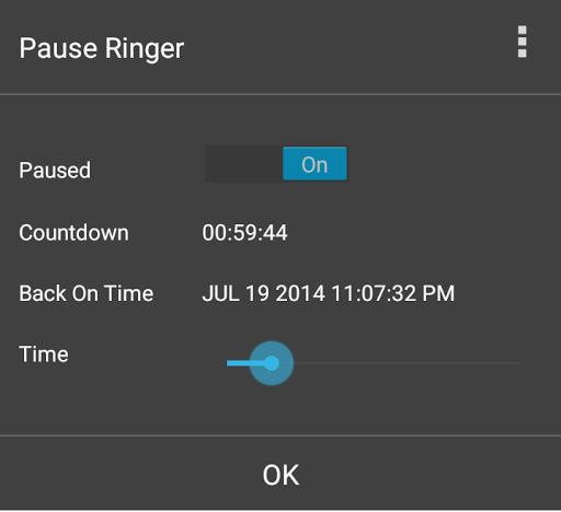 Pause Ringer