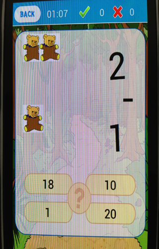 Mathematics game for child