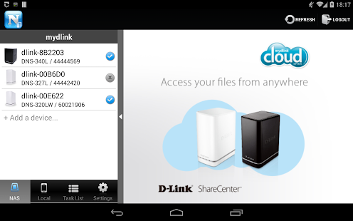 mydlink Access-NAS - screenshot thumbnail