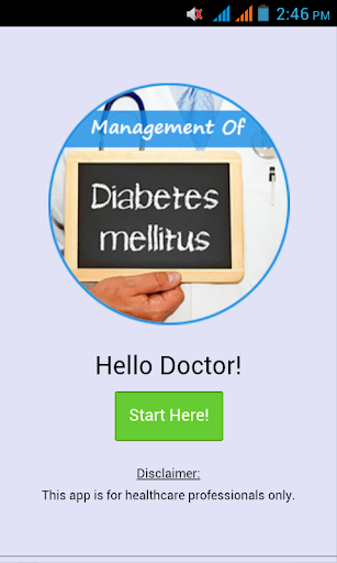 Mx of Diabetes Mellitus