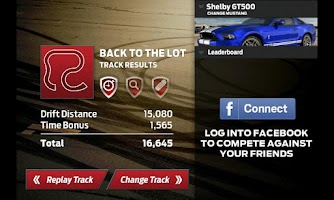 Screenshot of Mustang Drift Challenge