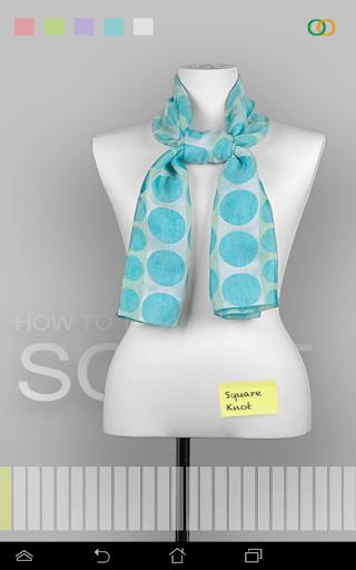 スカーフの結び方