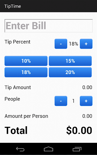 Tip Time Tip Calculator