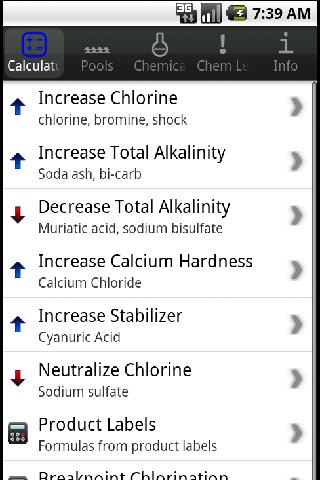 Pool Chemical Dosing - screenshot
