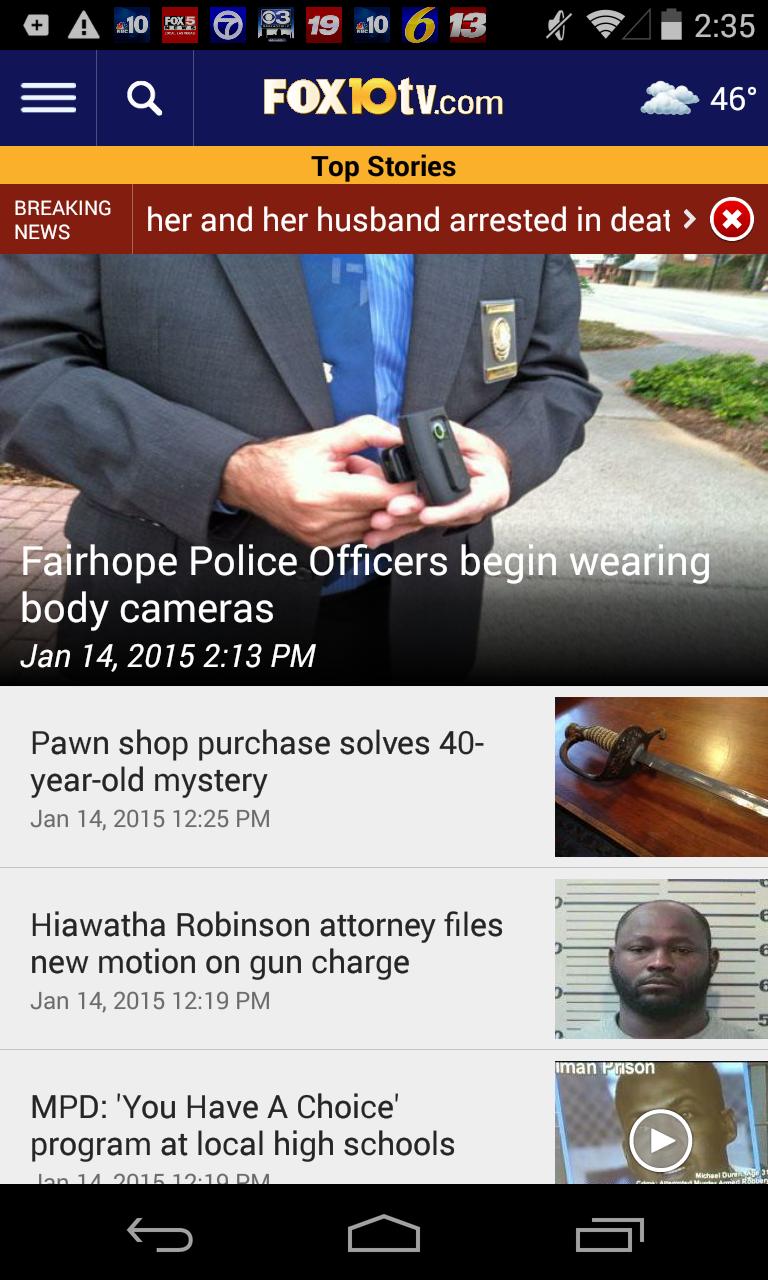 FOX10 News - WALA - Mobile, AL (Android) reviews at Android