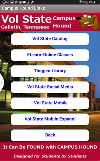 VolState Campus Hound - screenshot