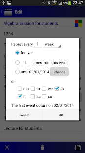 Calendar Pro/en - full version - screenshot thumbnail