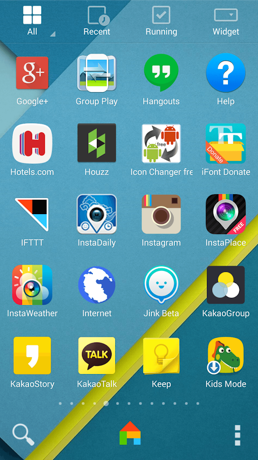Android Lollipop theme - screenshot
