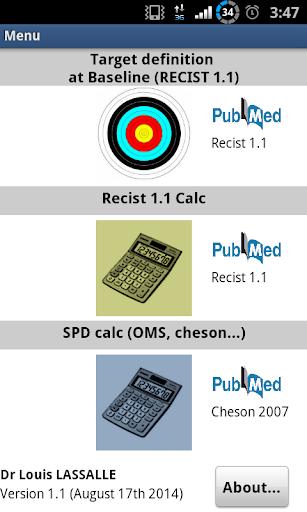 RECIST 1.1 Calculator