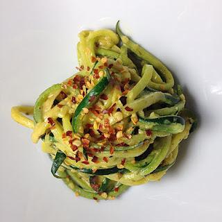 Creamy Garlic Zucchini Noodles.