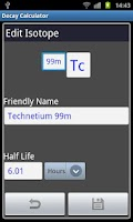 Screenshot of Radioactive Decay Calculator