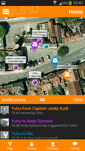 Yuhu location based messaging