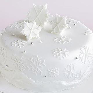 Sparkling Snowflake Cake Recipe