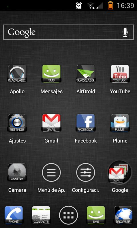 Apex Theme BlackLabel - screenshot