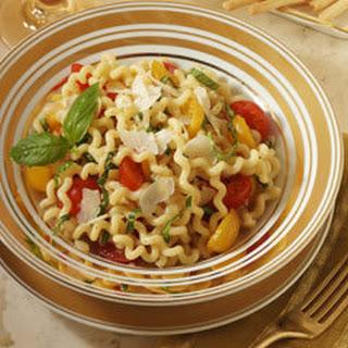 Fusilli With Fresh Red & Yellow Tomato Sauce.