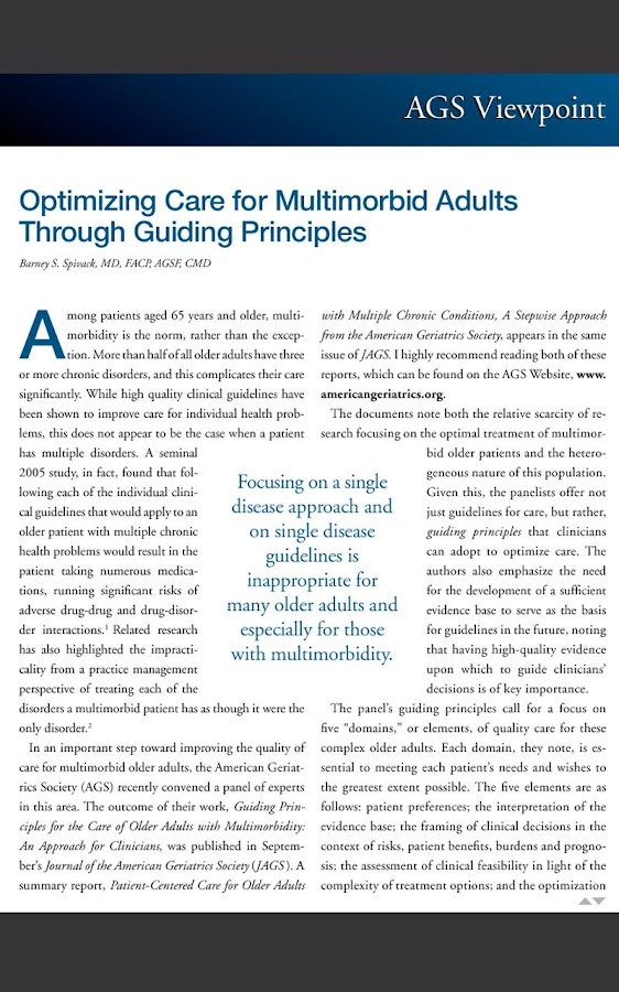 Annals of Long Term Care - screenshot