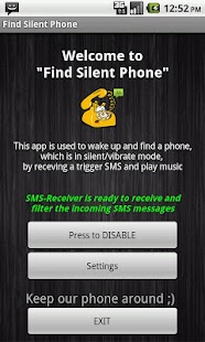Find My Phone via SMS- screenshot thumbnail