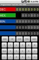 Screenshot of Programmer Tool DEC-HEX-BIN