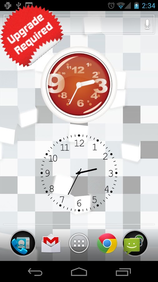 Stock Clock Widget- screenshot