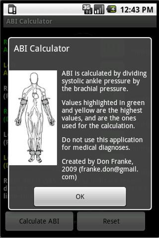 ABI Calculator- screenshot